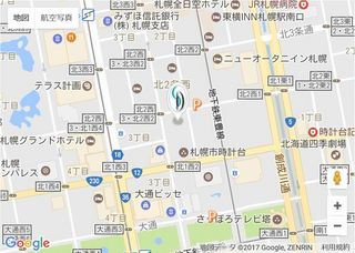 シライシ札幌時計台店地図